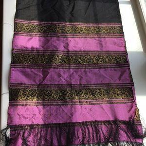 Boho silk shawl